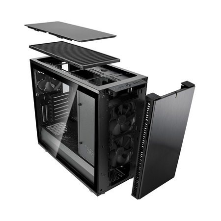 Fractal Design Define R6 USB-C Tempered Glass - Blackout