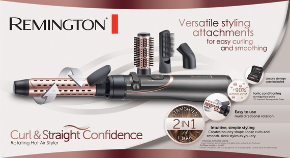 Remington Warme luchtborstel Curl & Straight Confidence AS8606