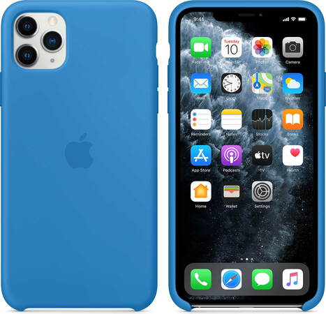 Apple Siliconenhoesje voor iPhone 11 Pro Max - Pacific