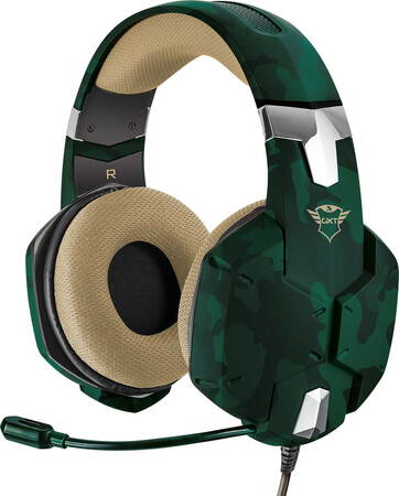 Trust GXT 322C Carus casque gaming Jungle Camo