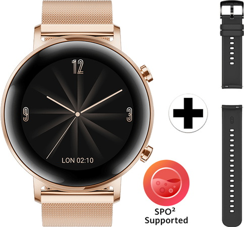 Huawei Watch GT2 - Édition Elegant - Or raffiné (42 mm)
