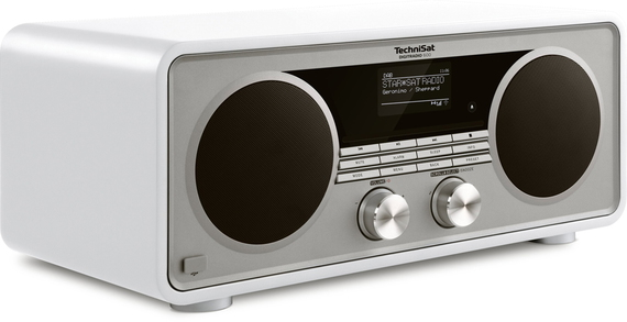 TECHNISAT DigitRadio 600 Radio DAB+ & Lecteur CD - Blanc