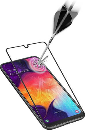 Cellular Line Second Glass Capsule pour Galaxy A41 - Noir