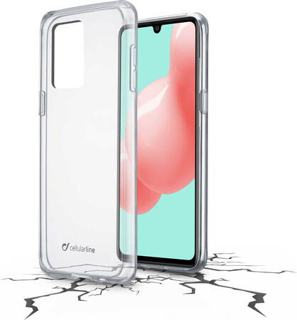Cellular Line Clear Duo backcover voor Galaxy A41 - Transparant