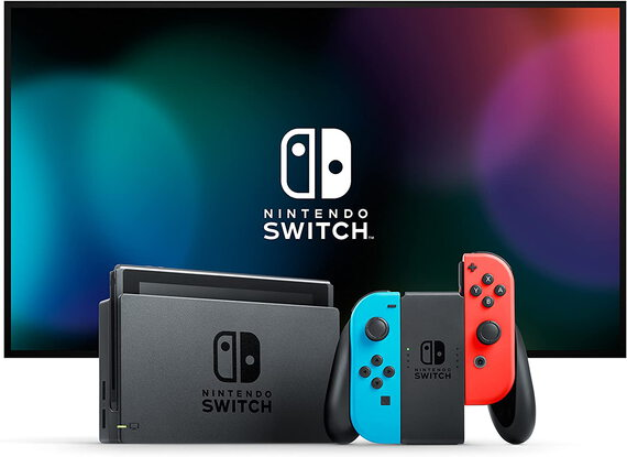 Nintendo Switch - Bleu/Rouge Néon
