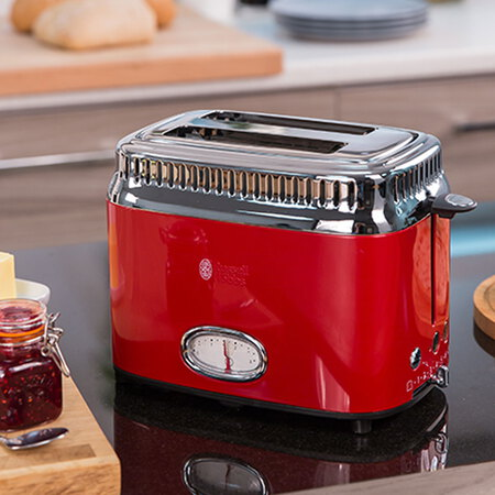 Russell Hobbs Broodrooster Retro Ribbon Red 21680-56