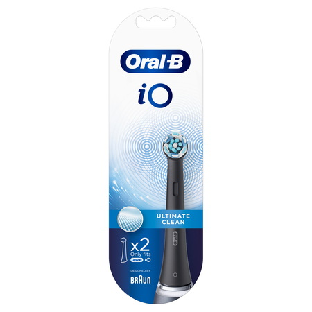 Oral-B iO Ultimate Clean Brossettes Noires - 2pcs
