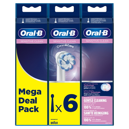 Oral-B Sensitive Clean Opzetborstels - 6st