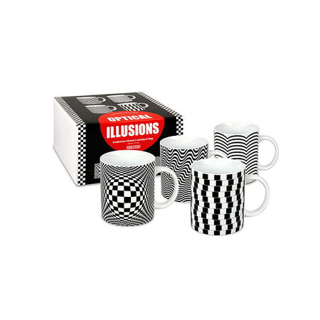 Könitz 4pc Gift Box Mugs - Optical Illusions