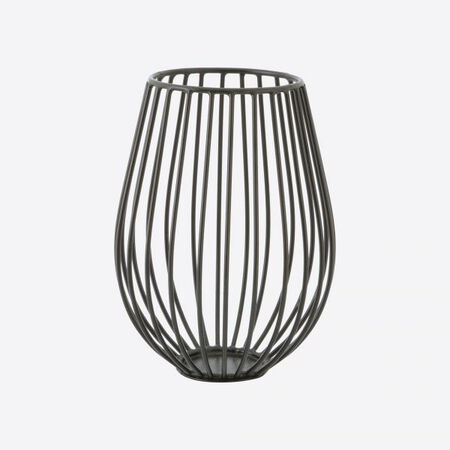 Point-Virgule WIRE BOUGEOIR NOIR Ø 14CM