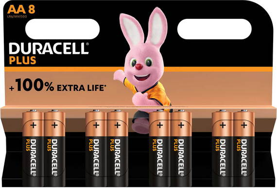 Duracell Plus 8x batteries AA