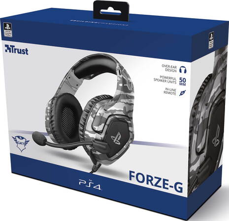 Trust GXT 488 Forze-G PS5 gaming headset - Grijs