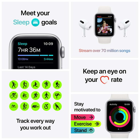 Apple Watch SE Nike - Sideral Gray/Anthracite Black 44mm