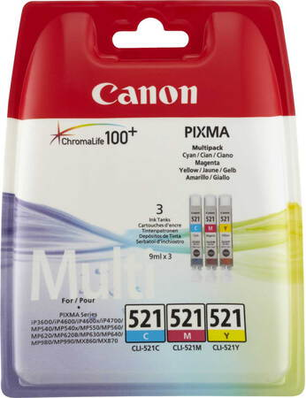 Canon Multipack CL-521 CMY 3 couleurs
