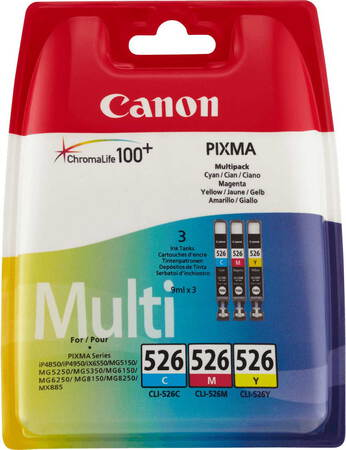 Canon Multipack CLI-526 CMY 3 couleurs
