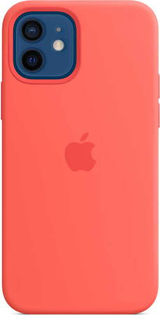 Apple Coque en silicone avec MagSafe pour iPhone 12 (Pro) - Rose Agrume