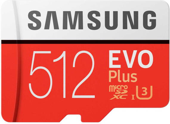 Samsung EVO Plus micro SDXC-kaart - 512 GB met SD-adapter