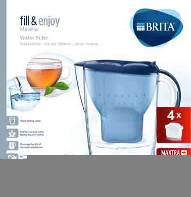 Brita Carafe filtrante - Fill & Enjoy - Marella Cool Blue incl. 4MAXTRA+