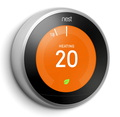 Nest Learning Thermostat 3th Gen - Acier inoxydable