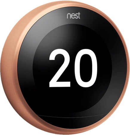 Nest Learning Thermostat 3th Gen - Cuivre