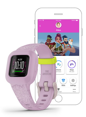 Garmin vívofit jr. 3 - Rose Fleuri