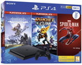 Playstation Playstation 4 Slim - Zwart (500GB) + Horizon Zero Dawn + Marvel Spider-man + Ratchet & Clank