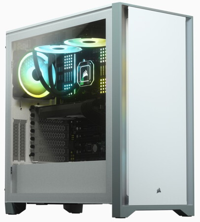 Corsair 4000D TEMPERED GLASS - Wit