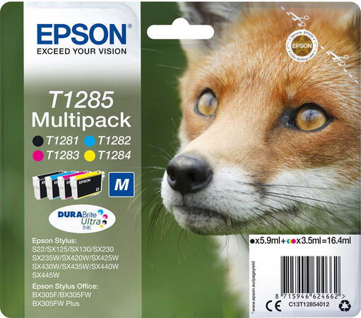 Epson Multipack DURABrite™ Ultra Ink T1285 Noir + 3 couleurs