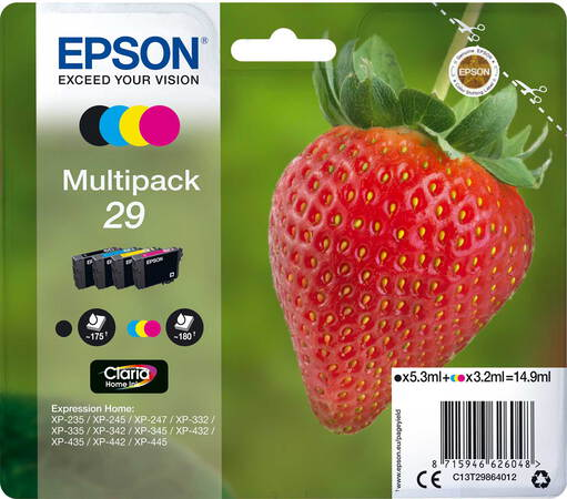 Epson Multipack Claria™ Home Ink 29 Noir + 3 couleurs