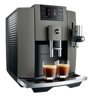 Jura Machine à expresso automatique E8 Dark Inox EB