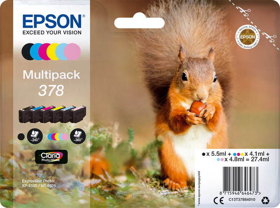 Epson Multipack 378 6 couleurs