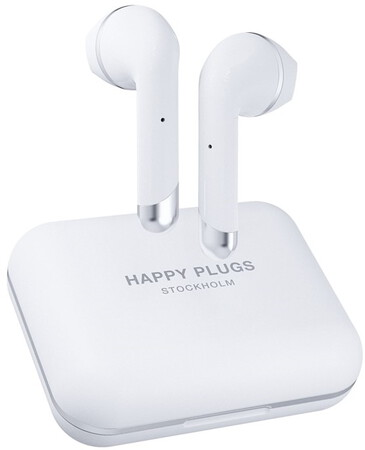 Happy Plugs Draadloze Oortjes Air 1 Plus - Wit
