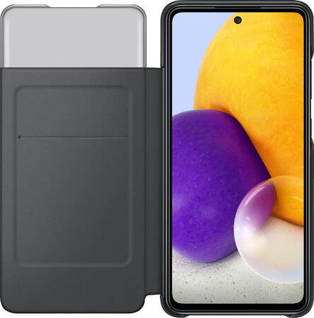 Samsung Smart S View Wallet Cover pour Galaxy A72 - Noir
