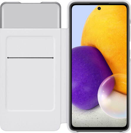 Samsung Smart S View Wallet Cover voor Galaxy A72 - Wit