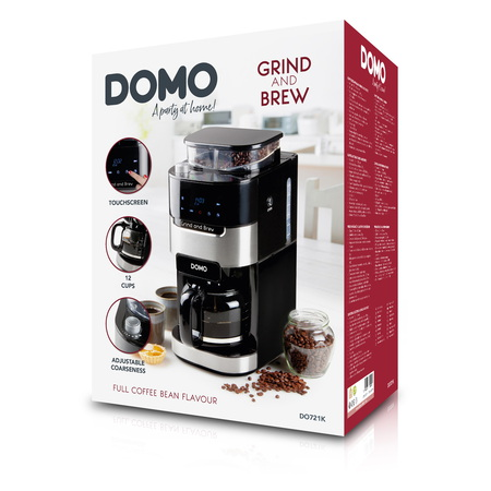 Domo Koffiezetapparaat Grind and Brew DO721K